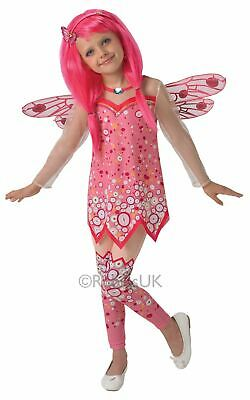 Mia and Me Pink Fairy Girls Fancy Dress Childs Costume Party Outfit Kids Classic
