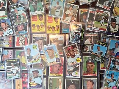 * 5 Card Set ALL Vintage Baseball Cards Lot Collection Random Stars & Commons *