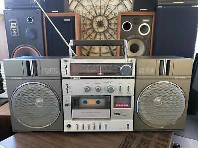 Fisher PH-410K Vintage Stereo Boombox  Cassette Deck and Radio