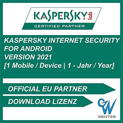 Kaspersky Internet Security 2019 für Android / 1 Gerät / 1Jahr / Mobile / Tablet