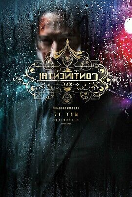 John Wick Chapter 3 : Vinyl  movie  poster  27 X 40 inch banner. #A
