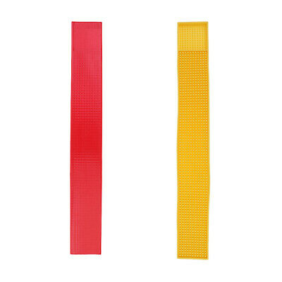 2 Rubber Beer Bar Service Spill Mat PVC Strip Mat Runner 60x8cm Yellow Red