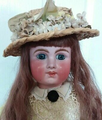 Superb 26 Inch Antique Mystery Closed Mouth French Bebe Unmarked