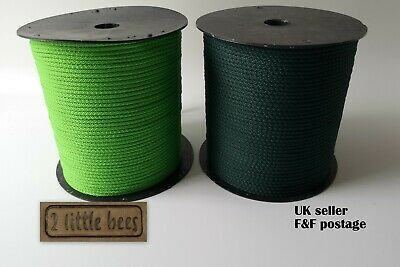 Black Rope Strong Soft Round Cord Drawstring Tying Piping Macrame Yarn UK