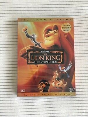 The Lion King (Disney) DVD - FREE SHIPPING AND RETURNS