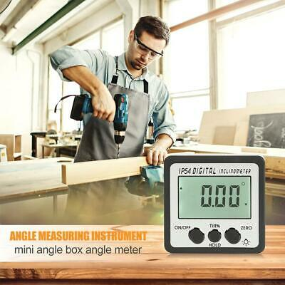 4*90°Mini Precision Digital Protractor Inclinometer Level Angle Finder Bevel Box