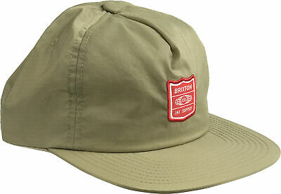 af1c9130 NEW BRIXTON STITH Khaki Red Unstructured Mens Snapback Cap Hat ...