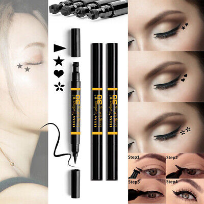 Waterproof Makeup Tattoo Stamp Liquid Eyeliner  Double-headed Eye Liner Pen
