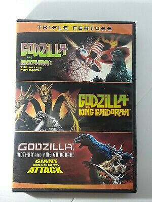 New! Godzilla Triple Feature DVD Set! Mothra King Ghidorah Giant Monster Toho