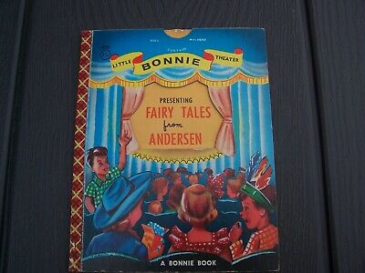 Vintage Children's Bonnie Book FAIRY TALES FROM ANDERSEN Little Bonnie Theater