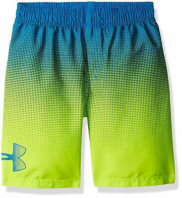 69b648b293 NWT UNDER ARMOUR Angle Drift Boys Volley Swim Trunks Blue/Yellow SELECT SIZE