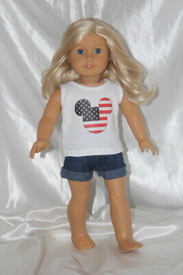 Patriotic Dress Outfit fits 18inch American Girl Doll Clothes Lot