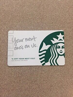 Starbucks Your Next One's On Us Mint, Service Recovery Card, Mint, Hard To Find