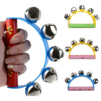 Baby Tambourine Bell Metal Jingle Ball Percussion Musical Toy Baby Kids Gift New