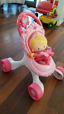 Fisher n price push stroller and dolly