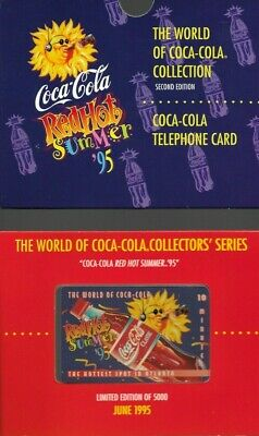 1995 Coca Cola Red Hot Summer Collectible Prepaid Phone Card