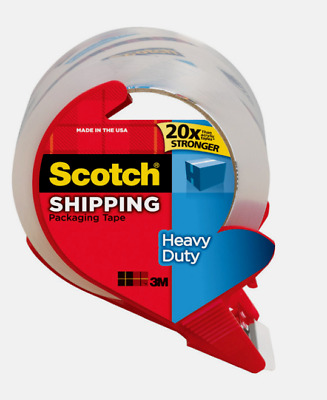 """NEW!! Scotch Shipping PACKING TAPE Clear Heavy Duty 1.88"""" W x 38.2 yd L 3850S"""