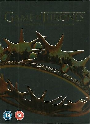 Game Of Thrones - Series 2 - Complete (DVD, 2013, 5-Disc Box Set) FREE SHIPPING!