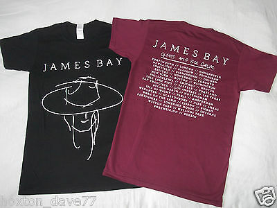 JAMES BAY Chaos & The Calm OFFICIAL 2015 WORLD TOUR DOUBLESIDED T-Shirt INDIE