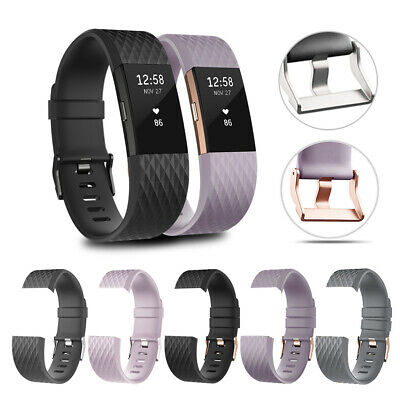 FitBit Charge 2 Strap Replacement Band Metal&RoseGold Buckle Wristband Accessory