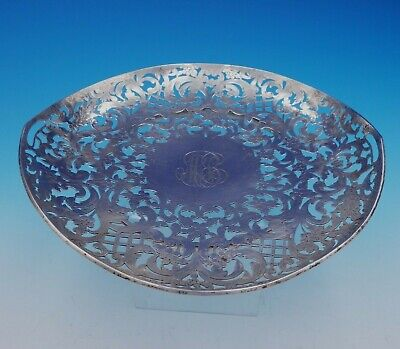 Marcus and Co Sterling Silver Serving Plate #B16 Footed Pierced Design (#3330)