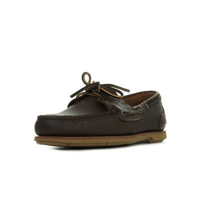 Chaussures Bateaux Timberland homme Classic Boat 2 Eye taille Marron Cuir Lacets