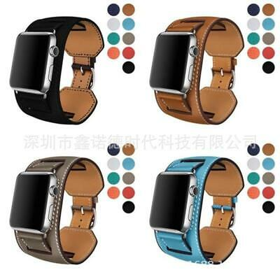 Leather Wrist Band Strap Bracelet Belt For iWatch Series 4 3 2 1 38mm 40mm 42mm