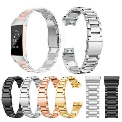 Stainless Steel Charge3 Watch Band Metal Strap Bracelet For Fitbit Charge 3