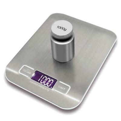 LCD Electronic Kitchen Digital Weighing Food Scale Portable Stainless Steel 10kg