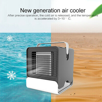 Mini Air Conditioning Fan Portable Conditioner Unit Low Noise Home Cooler+USB UK