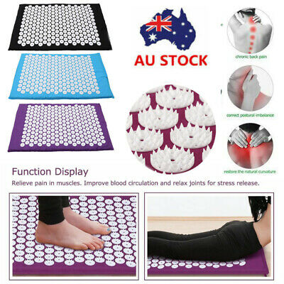 Body Massager Acupressure Cushion Mat Shakti Relieve Acupressure Yoga Pad AU