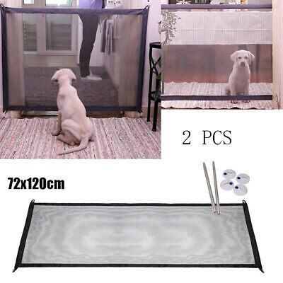 2PC Mesh Magic Pet Dog Gate Safe Guard And Install Anywhere Pet Safety Enclosure