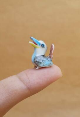 Miniature Figurine Tiny Birds Kookaburra Collectible Fairly Garden Decor Gift