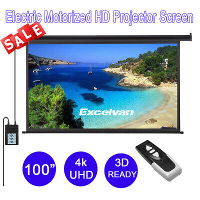 """100""""Projector Screen Electric Motorised Projection HD Conference Presentation"""