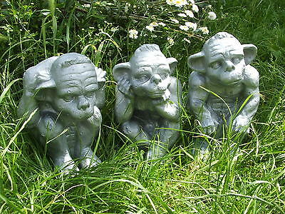 Latex Mould Moulds Mold.       Set Of 3 X Large Gargoyles.