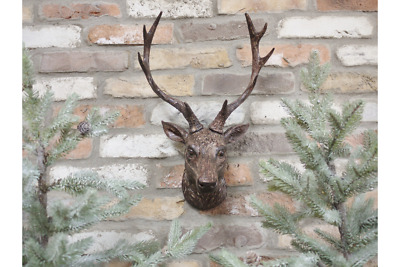 Wall Mounted Stag Head Wall Plaque Decoration Deer Antler Animal Figure 47cm