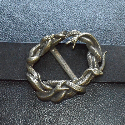 Hand Lost wax casting White Copper Snake Mens Belt Buckle COOL Punk Personal