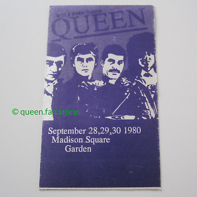 QUEEN : Genuine 1980 Cloth Stage Pass Madison Square Garden USA Tour Concert