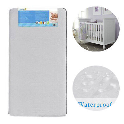 Crib Toddler Mattress Baby Bed Foam Pad Waterproof Cover Thermo-Bonded Core