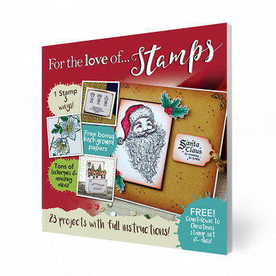 Hunkydory For The Love Of Stamps Magazine Issue 11 With Free Christmas Stamp & D