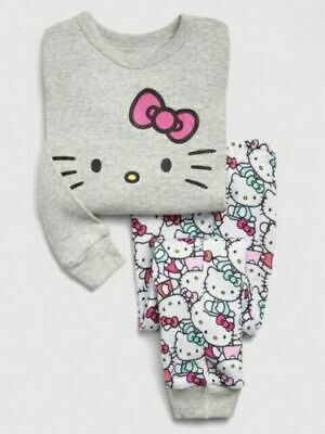 GAP HELLO KITTY SLEEP SET PAJAMAS PJS ~ SIZE 6-12 12-18 or 18-24 or 2 or 3 ~ NWT