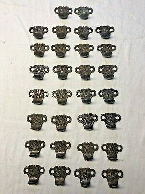 30 ANTIQUE Cast-Iron EASTLAKE Window Sash Handles Pulls or DRAWER DOOR PULL
