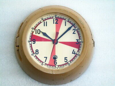 Vintage Russian Cccp Ships Boat Yacht Mechanical Submarine Winding Clock Watch