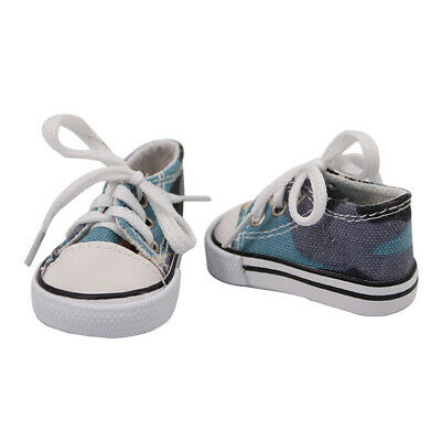 18inch Girl Doll Canvas Shoes Flats for American Doll Clothes Accs Kids Gift