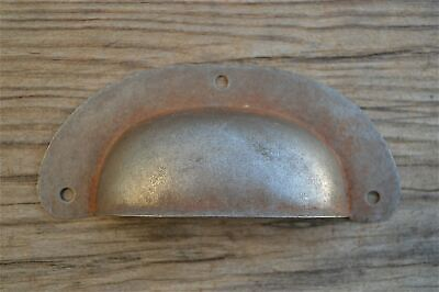 An Antique Pressed Aged Steel Drawer Handle Filing Industrial Drawer Pull Cb11