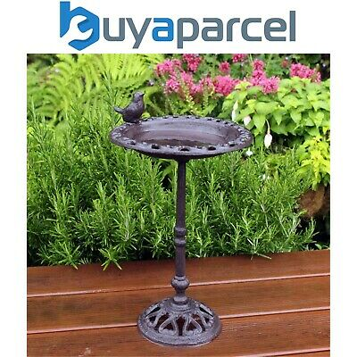 Kingfisher Cast Iron Decorative Free Standing Wild Bird Bath
