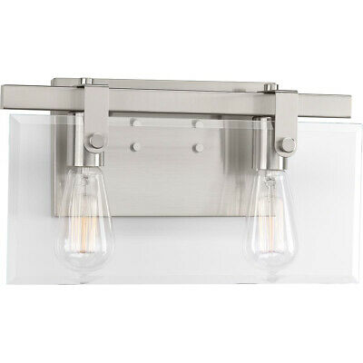 Progress Lighting P300106-009 Glayse Bathroom Vanity Light Brushed Nickel
