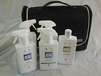 Audi Autoglym Car Care Kit. Leather Care, Aqua Wax, Shampoo, Vinyl Rubber, Glass