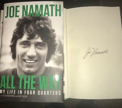 Joe Namath Signed Autograph Book NY Jets All The Way My Life In Four Quarters