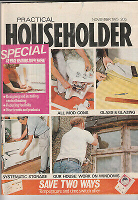 PRACTICAL HOUSEHOLDER Magazine November 1975 - Heating